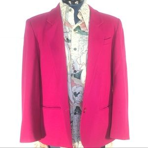 Vintage Pink Blazer, Fuchsia Jacket